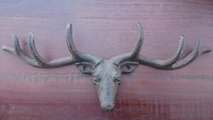 Vintage-Style-Cast-Iron-Antlers-Deer-Head-Coat-Hook-Key-Holder