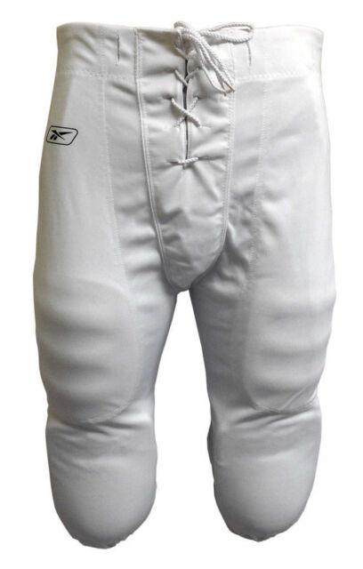 erinomainen laatu tehdashinta uusin Tunneled Reebok Polyester Pique Adult Football Pants XL White