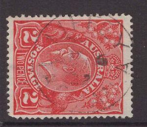 Tasmania-LIFFEY-type-1-postmark-on-2d-KGV-rated-S-by-Hardinge