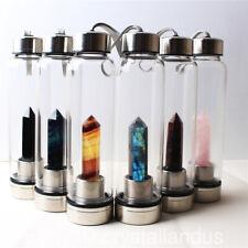 Natural Elixir Quartz Crystal obelisk Water Bottle Point reiki Healing Wand rock