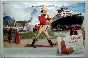 Johnnie-Walker-Whisky-Queen-Elizabeth-Gepraegte-Stahl-Zeichen-300mm-x-200mm
