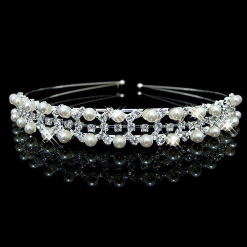 Cristal Strass Mariage Fête Bandeau Princess Crown Hair Band Diamond Tiara