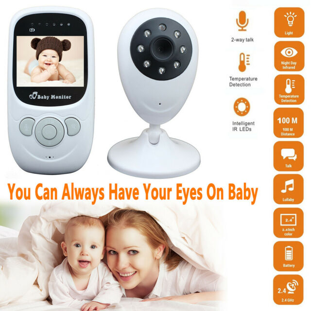 "2.4/"" Audio Video Baby Monitor Wireless Digital Camera Night Vision Safety Viewer"