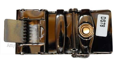 Automatic sliding buckle.Black and Silver Belt buckle only Men's belt Buckle