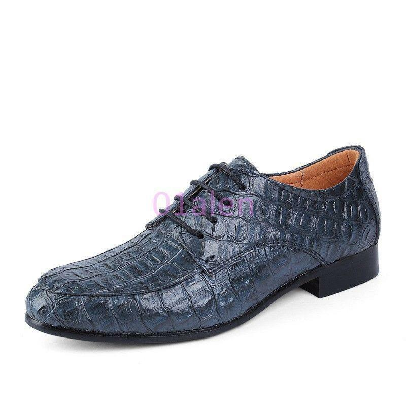 Mens Business Croco Alligator Casual Strappy Pumps Formal Dress shoes Plus Size