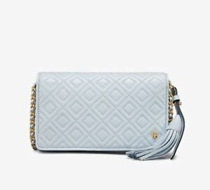 b2aad191d76 Image is loading NWT-TORY-BURCH-FLEMING-FLAT-WALLET-CROSSBODY-HANDBAG-