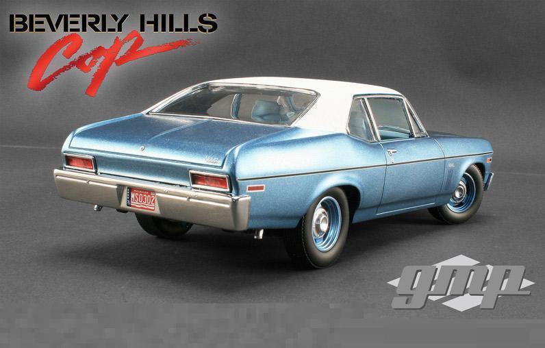 GMP 1 18 Chevrolet NOVA Beverly Hills Cop Cop Cop Diecast Model Car bluee 18802 661589