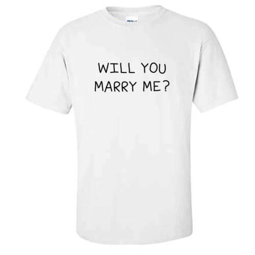 T-Shirt-Mignon Fiançailles Mariage proposition Idée Homme va vous m/'épouser
