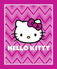 "Sanrio Hello Kitty Chevron Panel 100% cotton fabric by the panel 36"" X 43"""