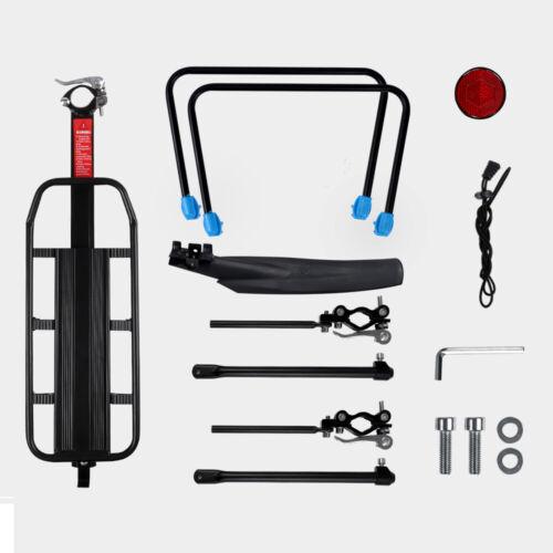 Cycling Bike Rear Rack Carrier with Mudguard Bicycle Pannier Rack Cargo Shelf