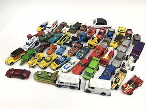 Retro-Lote-de-49-Hot-Wheels-Matchbox-Tootsie-Toy-y-mas-en-su-mayoria-anos-70-amp-anos-80-coches