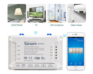 Sonoff-4CH-R2-Remote-Ctrl-Smart-WIFI-4-Channel-Switch-Home-Auto-Wireless-Timer