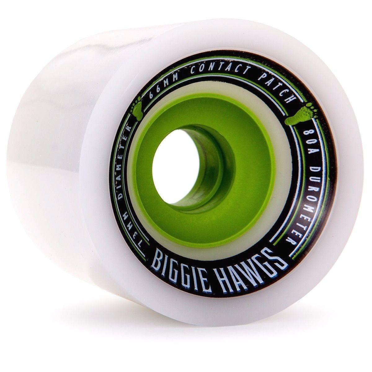 Landyachtz Biggie Hawgs 73mm 80a Pro Longboard Wheels White
