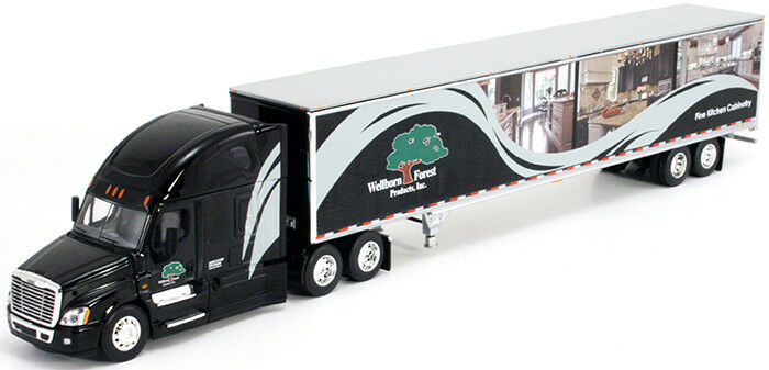1 64 DCP WELLBORN FOREST FREIGHTLINER EVOLUTION W  DRY VAN TRAILER
