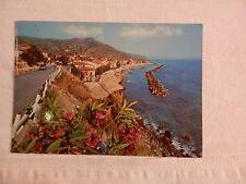 Vecchia foto cartolina d epoca di Agnone Cilento panorama mare scogli case da