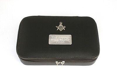 Masonic Portable Jewellery Box FREE ENGRAVING Masonic Gift 230