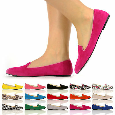NEW LADIES GIRLS FLAT BALLERINAS FAUX SUEDE CASUAL SLIP ON SHOES SIZE 3 - 8