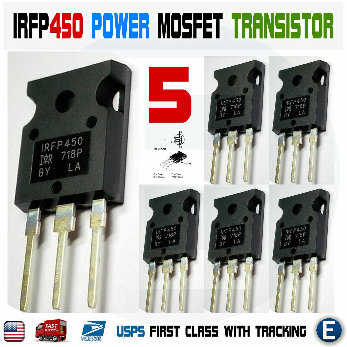 Transistor IRFP450 Megabite Electronics Lot of 2 Plastic Enclosure