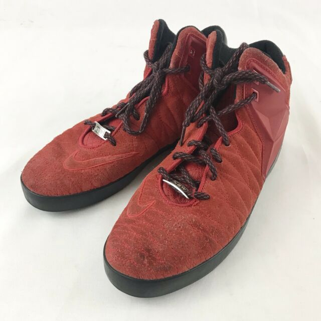 pretty nice 697c0 6c55c Nike Lebron 11 Suede Lifestyle Mens Size 8 Shoes University Red Black  616766-600