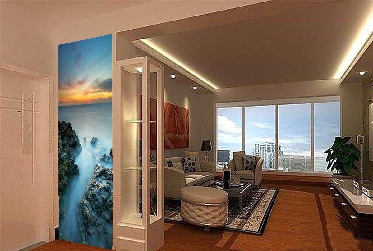 3D Stones Ocean Dusk 52 Wall Paper Wall Print Decal Wall Deco Indoor Mural Lemon