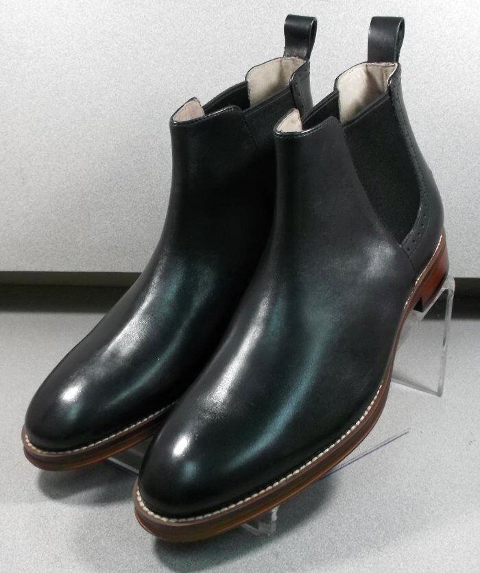 592071 MSBT50 Men's Shoes Size 9.5 M Black Leather Boots Johnston & Murphy