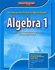 Algebra 1 Homework Practice Workbook by McGraw-Hill/Glencoe (Paperback / softback, 2008)