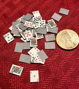 Toys-Games-Set-of-Playing-Cards-A-Full-Deck-1-034-Scale-Artisan-Made