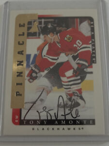 1996-97 Pinnacle Be a Player #66 Tony Amonte Blackhawks Auto Autograph Card