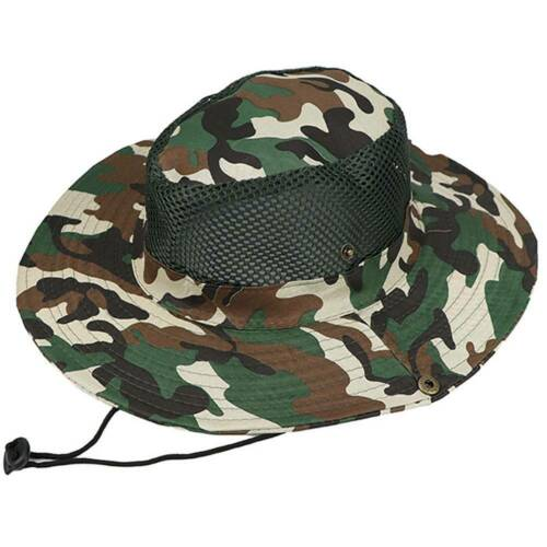 Men/'s Bucket Hat Boonie Hunting Fishing Outdoor Wide Brim Safari Camo Sun Caps