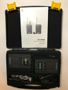BOYA-BY-WM6-2-X-WIRELESS-MICROPHONE-RECEIVERS-ONLY-XLR-adapter-UK