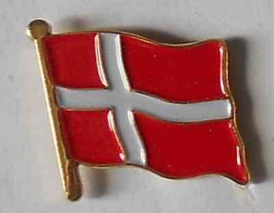 Denmark Danish Dane Country Flag Enamel Pin Badge