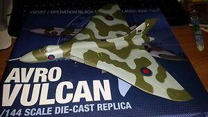 Avro Vulcan Xm597 Guerre des Malouines 1982 - Échelle 1: 144 Runsun Die Cast Nouveau
