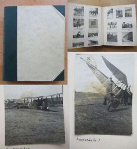 Altes-Fotoalbum-zivil-und-Militaer-1-WK-Feldartillerie-Flugzeuge-120-Fotos