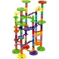 105 Marble Race Run Toy Kids Children Play Set Construcion Balls Building Track