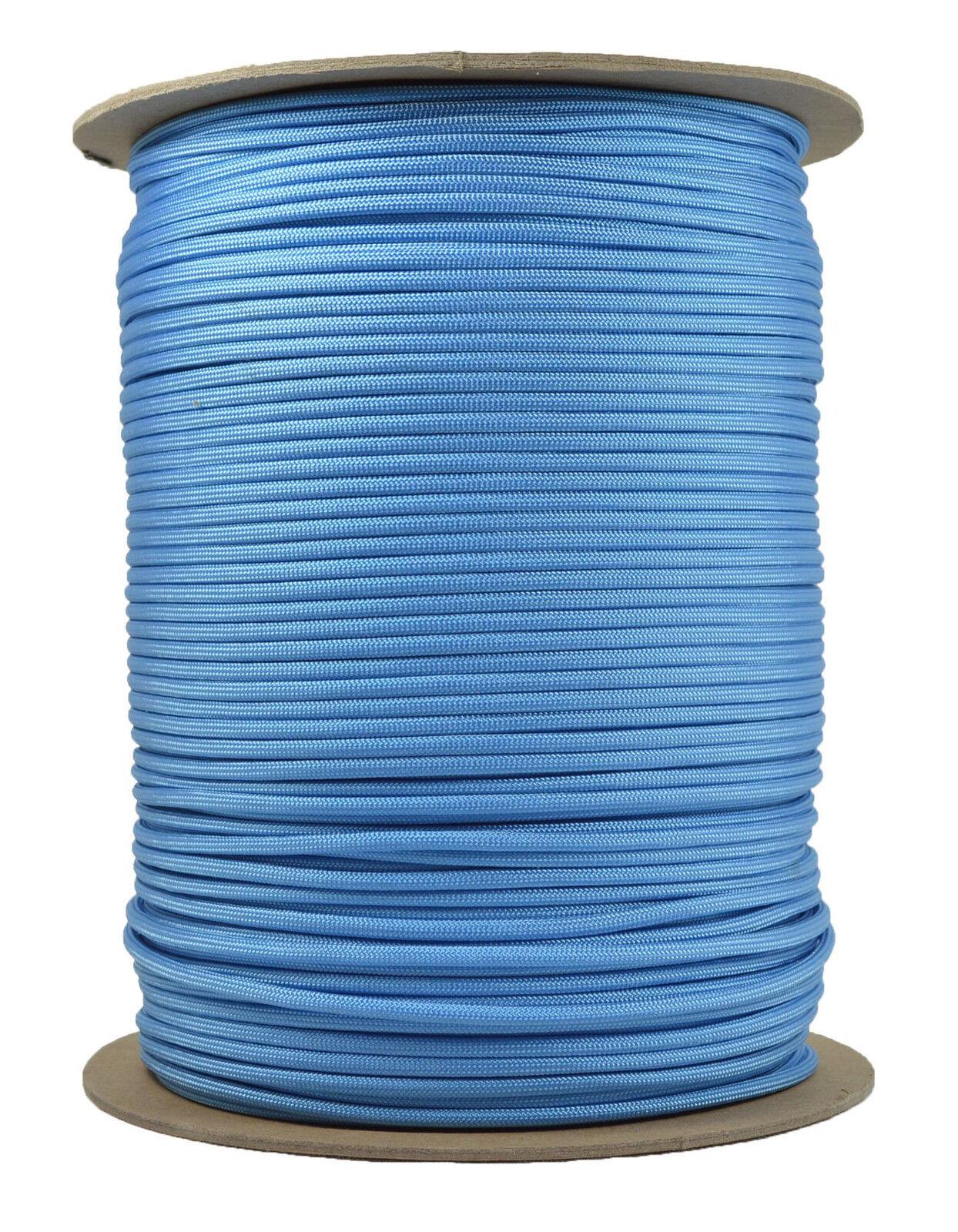 Tarheel bluee - 550 Paracord Rope 7 strand Parachute Cord - 1000 Foot Spool