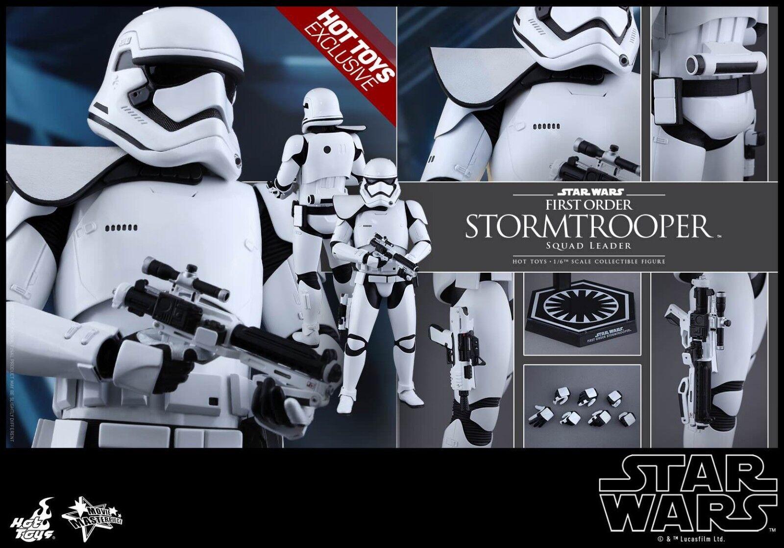 Star Wars Ep.vii Squad Leader Stormtrooper Hot Toys Exclusive + Marron Boîte