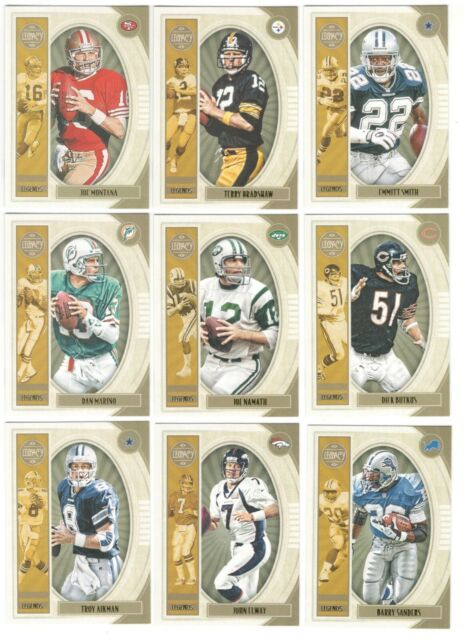 2019 Legacy Football Complete Legends Short Print Set #101-140 Montana Elway SP!