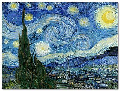 Quadro Vincent Van Gogh 'Notte Stellata II' Stampa su Tela Canvas