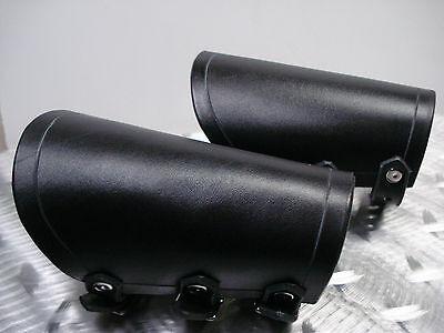 BLACK PLAIN LEATHER GAUNTLETS. DEATH METAL (MDLG0243)..... REVENGE'S