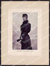 Horovitz Porträt Sissi Kaiserin Elisabeth Adel Wappen Schwarz-Senborn Wien 1899