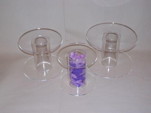 3 set traditional clear perspex  cake separator pillars acrylic plexiglas