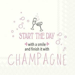START-THE-DAY-WITH-A-SMILE-Champagne-cocktail-napkins-20pack-25cm-square-3ply