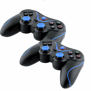 Lot-of-2-New-Wireless-Bluetooth-Game-Controllers-For-Sony-PS3-Playstation-3