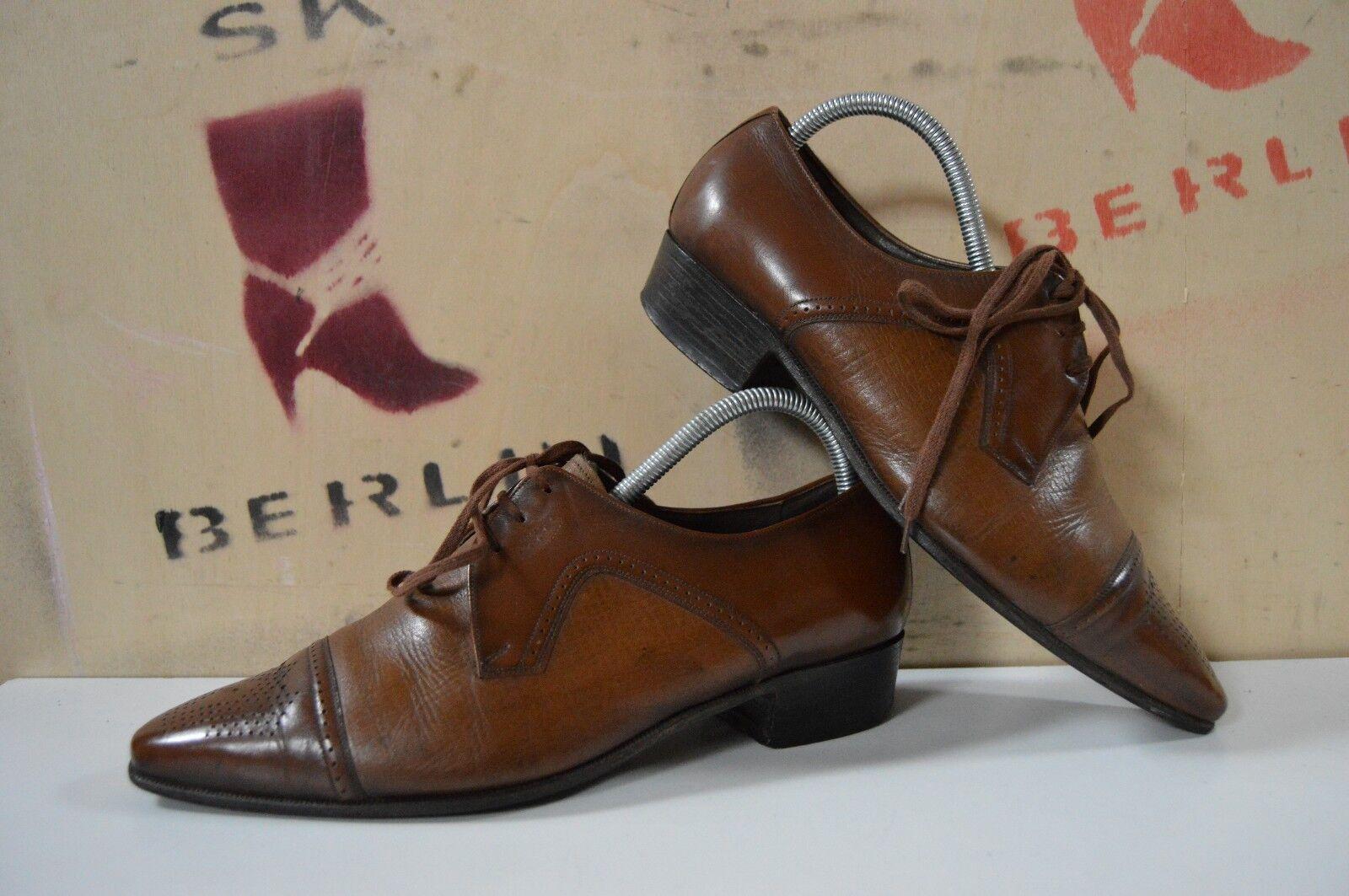 Los zapatos más populares para hombres y mujeres Descuento por tiempo limitado Herren Schnürschuhe 70er TRUE Vintage 70s Halbschuhe Loafer braun cognac
