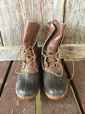 LL BEAN duck Boot VINTAGE Maine Hunting Boots Tall 9 Men