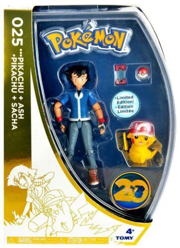 Pokemon 20th Anniversary Ash /& Pikachu Exclusive Action Figure