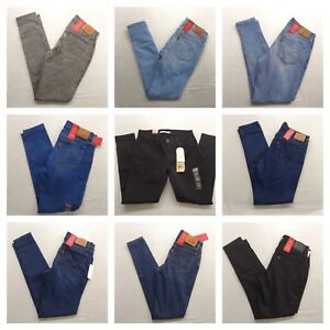 New-Levi-039-s-Womens-710-Super-Skinny-Mid-Rise-Stretch-Denim-Jeans-All-Sizes-Colors