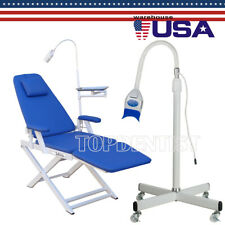 Dental Folding Unit Chair With Led Lighttooth Whitening Lamp Bleaching Standing