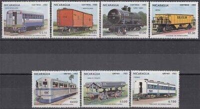 2387/93 ** Eisenbahnwagen Einen Effekt In Richtung Klare Sicht Erzeugen Nicaragua Minr Briefmarken