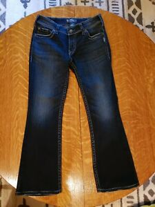 SILVER-JEANS-Womens-SUKI-SURPLUS-Blue-Jeans-Denim-Size-30-x-30